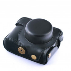 Husa piele eco neagra pentru Canon Powershot G1X