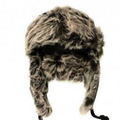 Caciula ruseasca Barbati cu urechi FA - Marime universala - Fes Barbati, Culoare: Negru