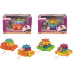 + Jucarie tip piramida Eichhorn de lemn (2 modele) + - Jocuri Forme si culori