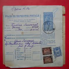 HOPCT DOCUMENT VECHI 6 /FOAIE DE EXPEDITIE POSTALA-TIMBRE FISCALE FERDINAND 1932 - Pasaport/Document, Romania 1900 - 1950