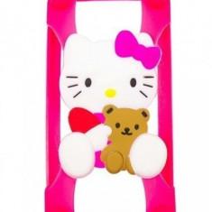Husa / Bumper Iphone 4 4s 5 5s 5c 6 6s SE Hello Kitty SILICON - Husa Telefon Apple, iPhone 5/5S/SE, Roz