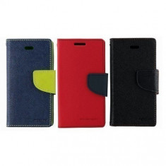 Husa ALLVIEW A5 Smiley Flip Case Slim Rosie - Husa Telefon Allview, Rosu, Piele Ecologica, Cu clapeta, Toc