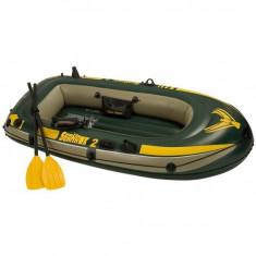 Barca gonflabila pentru 2 persoane Seahawk II Intex 68347 cu vasle si pompa - Barca pneumatice