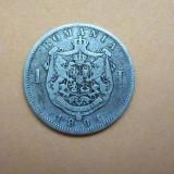 V- 1 leu 1894 - Moneda Romania, Argint