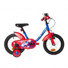 Bicicleta copil b-twin decathlon - Bicicleta copii, 14 inch, 12 inch, Numar viteze: 1
