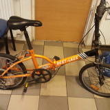 Bicicleta Best Laux pliabila schimbatoare shimano - Bicicleta pliabile, 20 inch, Numar viteze: 6