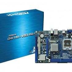 Placa de baza ASROCK Socket 775, G41M-VS3 R2.0, Intel G41, 2* DDR3 1333/1066, VGA, 1*PCIeX16/1*PCI,, 4*SATA2, 1*IDE, 10/100 LAN, 6CH, Matx\ bulk, Pentru INTEL, LGA775, MicroATX