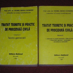 Tratat teoretic si practic de procedura civila - Viorel Mihai Ciobanu (2 vol.) - Carte Drept civil