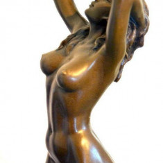 STATUETA NUD DIN BRONZ PE SUPORT DE MARMURA - Sculptura