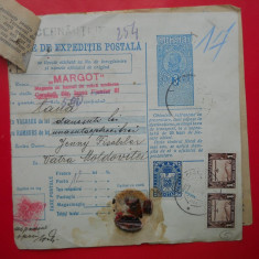 HOPCT DOCUMENT VECHI 5 /FOAIE DE EXPEDITIE POSTALA-TIMBRE FISCALE FERDINAND 1932 - Pasaport/Document, Romania 1900 - 1950