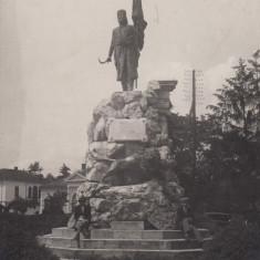 ROMANIA OLTENIA TARGU- JIU STATUIA TUDOR VLADIMIRESCU, FOTO AGFA - Carte Postala Oltenia dupa 1918, Necirculata, Fotografie