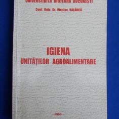 NICOLAE BALAUCA - IGIENA UNITATILOR AGROALIMENTARE - 2008