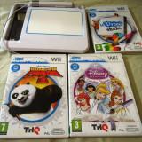 uDraw  Wii + 3 jocuri originale uDraw Studio, Kung fu panda 2, Disney Princess!