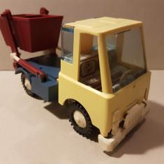 Jucarie veche comunista de colectie, camion gunoi container, Estonia URSS Rusia - Jucarie de colectie