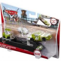 Masinuta Cars Pit Crew Launchers Vitoline No. 61 - Masinuta electrica copii Mattel
