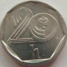 Moneda 20 Haleru - CEHIA, anul 1996 *cod 4030  Allu-a.UNC