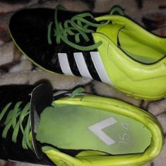 Adidasi fotbal sala - Ghete fotbal Adidas, Marime: 39.5, Culoare: Verde