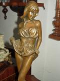 Spectaculoasa sculptura din bronz masiv de dimensiuni mari 44 cm