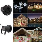 Proiector LED RGB fulgi de zapada, 4W, metalic, pentru exterior