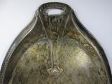 c Faras vechi pentru masa din metal argintat Secession, Art Nouveau, marcat
