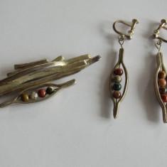 Set cercei si brosa argint -1005