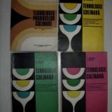 TEHNOLOGIE CULINARA, LOT 4 VOLUME, 1973 - Carte Retete traditionale romanesti