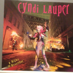 CYNDI LAUPER - A NIGHT TO REMEMBER (1989/CBS /RFG) - Vinil/Vinyl/Impecabil (NM) - Muzica Pop Columbia