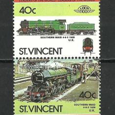 ST. VINCENT--LOCOMOTIVE 1984 MNH - Timbre straine, Nestampilat