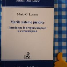 Marile sisteme juridice Introducere in dreptul european Mario Losano - Carte Drept comunitar