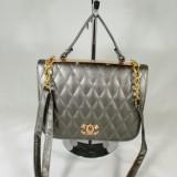 Geanta dama gri Chanel+CADOU, Culoare: Din imagine, Marime: Medie