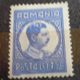 ROMANIA 1930 – CAROL II,, timbru nestampilat 7.5 LEI, M430 - Timbre Romania