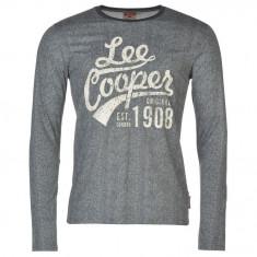 Bluza Pulover Tricou maneca lunga Barbati Lee Cooper original - marimea L, Bumbac, Gri