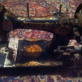 Maşină de cusut NAUMANN No705 veche de peste 130 de ani funcțională