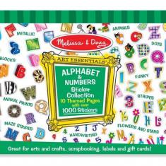 Colectia De Abtibilduri Litere Si Numere Melissa And Doug - Jocuri arta si creatie Melissa & Doug