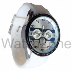 Ceas Unisex McLaren Precision Cronograph Alb, Inox, Silicon