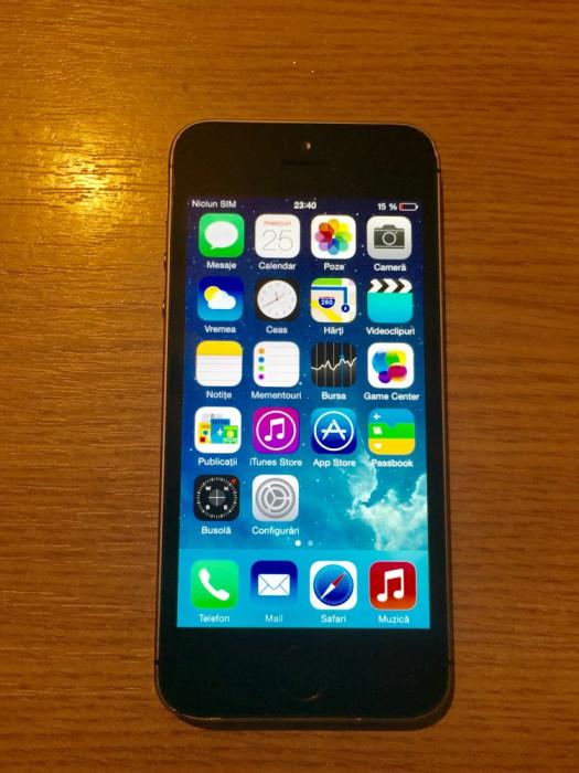 Iphone 5S negru 64 GB codat O2 UK foto mare