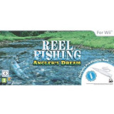Reel Fishing Angler's Dream + Fishing Rod Wii