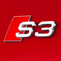 Emblema sigla Audi A3 S-line crom 3D pentru spate Sline S3 - Embleme auto