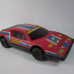 c Jucarie veche de tabla, 21 cm,  masina probabil Lamborghini