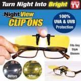 Clipsuri pentru ochelari Night View,pentru condus noaptea!