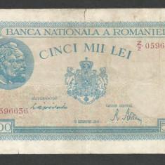 ROMANIA 5000 5.000 LEI 10 OCTOMBRIE 1944 [17] P-55 - Bancnota romaneasca