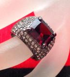LICHIDARE STOC-Inel Fashion- PLACAT CU RHODIUM si Swarovski - marimea 7/55mm