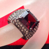 Inel Fashion- PLACAT CU RHODIUM si Swarovski - marimea 7/55mm