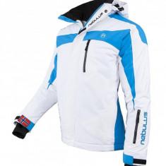 Geaca de ski, snowboard, munte, marime XL pentru barbati, Nebulus model Rocket, alb cu albastru, pret initial 349 euro, ID438 - Echipament ski, Geci
