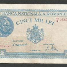ROMANIA 5000 5.000 LEI 10 OCTOMBRIE 1944 [5] P-55, VF+ - Bancnota romaneasca