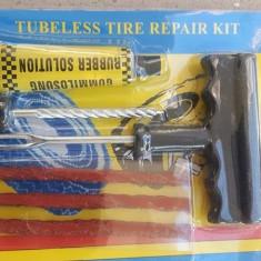 Reparatie pana roata tubeless vulcanizare anvelope radiale cu snur