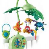 Carusel muzical pt patut Fisher-Price Fisher-Price Rainforest Peek-A-Boo Leaves, ID299