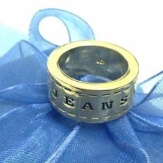 Inel/verigheta-Placat cu aur 18K si Swarovski- marimea 7, 17mm - Inel placate cu aur