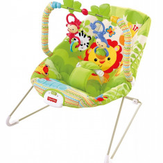 Balansoar copii pana la 9 kg tip leagan portabil Fisher-Price Rainforest Friends, verde, ID263 - Balansoar interior