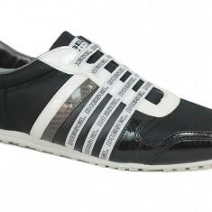 Pantofi sport barbatesti Diesel marime 42, model CB_293_C, negru-gri, ID153 - Adidasi barbati